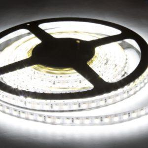Герметичная светодиодная лента белого свечения 3528-600 LED, IP 65, 9,6 Вт/м, 12V. 5 Метров.
