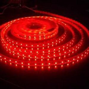 Герметичная светодиодная лента красного свечения 3528-600 LED, IP 65, 9,6 Вт/м, 12V. 5 Метров.