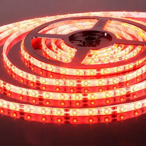 Герметичная светодиодная лента красного свечения 3528-300 LED, IP 65, 4,8 Вт/м, 12V.5 Метров