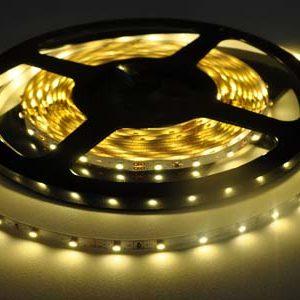 Герметичная светодиодная лента зелёного свечения 3528-300 LED, IP 65, 4,8 Вт/м, 12V. 5 Метров.