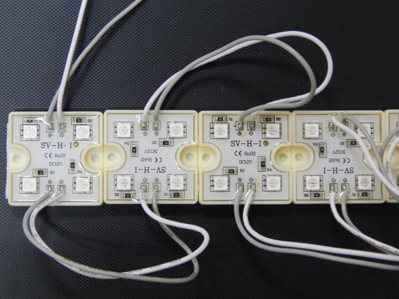 Светодиодный модуль эконом smd 4- 5050 CW