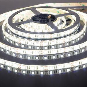 Открытая светодиодная лента белого свечения 5050-150 LED, IP 20, 7,2 Вт/м, 12V. 5 Метров.