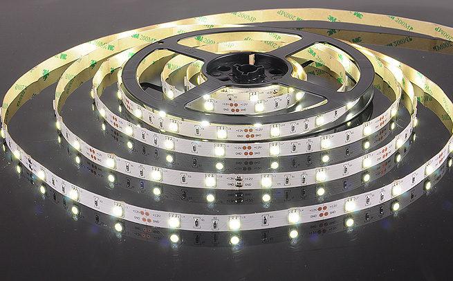 Герметичная светодиодная лента белого свечения 5050-150 LED, IP 65, 7,2 Вт/м, 12V. 5 Метров.