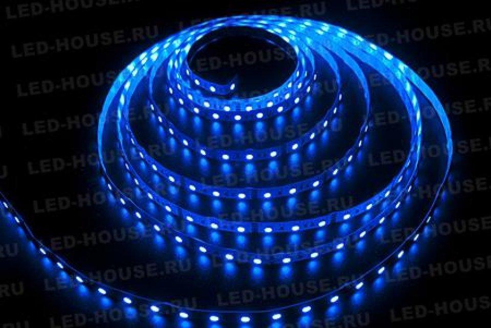 Герметичная светодиодная лента синего свечения 5050-300 LED, IP 65, 14,4 Вт/м, 12V. 5 Метров.
