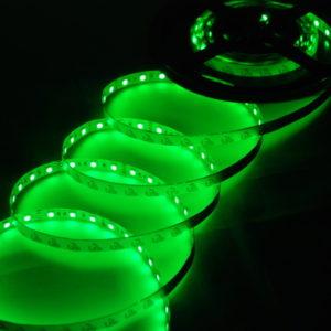 Герметичная светодиодная лента зелёного свечения 5050-300 LED, IP 65, 14,4 Вт/м, 12V. 5 Метров.