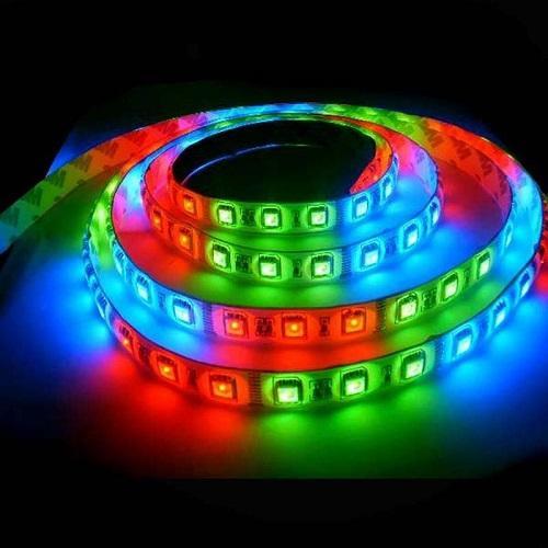 Герметичная светодиодная лента многоцветного свечения 5050-300 LED, IP 65, 14,4 Вт/м, 12V. 5 Метров.