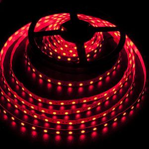 Герметичная светодиодная лента красного свечения 5050-300 LED, IP 65, 14,4 Вт/м, 12V. 5 Метров.