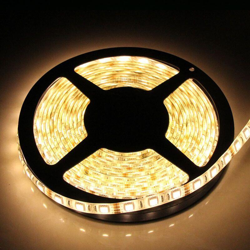 Герметичная светодиодная лента тёплого свечения 5050-300 LED, IP 65, 14,4 Вт/м, 12V. 5 Метров.