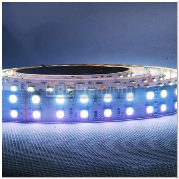 Открытая светодиодная лента RGB+белая 5050-600 LED, IP 20, 28,8 Вт/м, 24V. 5 Метров.