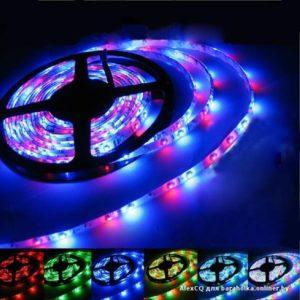 Открытая светодиодная лента многоцветная 5050-150 LED, IP 20, 7,2 Вт/м, 12V. 5 Метров.