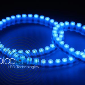 Светодиодная лента бокового свечения DIP 96 LED IP 67 12V синего свечения