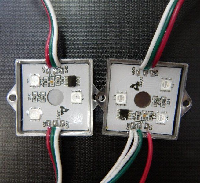 Светодиодный flash модуль 3x5050 RGB