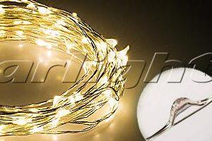 Светодиодный декор / Декоративные нити WR-5000 герметичные WR 12V 20 LED 1608; Изображение товара: 017999 Светодиодная нить WR-5000-12V-Warm (1608, 100LED)