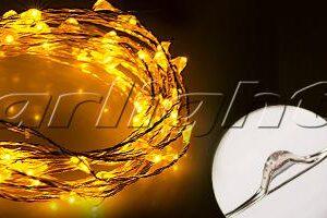 Светодиодный декор / Декоративные нити WR-5000 герметичные WR 12V 20 LED 1608; Изображение товара: 017993 Светодиодная нить WR-5000-12V-Yellow (1608,100LED)