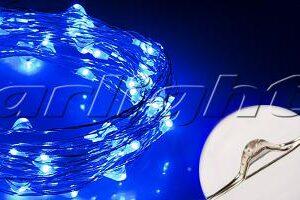 Светодиодный декор / Декоративные нити WR-5000 герметичные WR 12V 20 LED 1608; Изображение товара: 017995 Светодиодная нить WR-5000-12V-Blue (1608, 100LED)