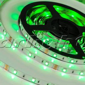 Светодиодные ленты / Ленты LUX smd 5060 [+RGB] открытые RT 12V 30 [+RGB]; Изображение товара: 010593 Лента RT 2-5000 12V Green (5060, 150 LED, LUX)